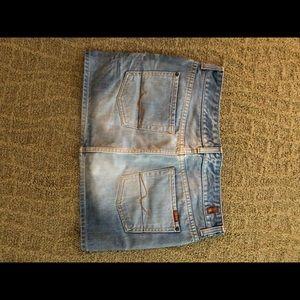 7 for all mankind miniskirt